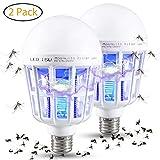 Gogogu 2 Pcak Bug Zapper Light Bulbs - Mosquito Killer Lamp, UV LED