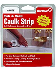 Red Devil 0151 Wide White Tub and Wall Caulk Strip 1-5/8-Inch by 11-Foot
