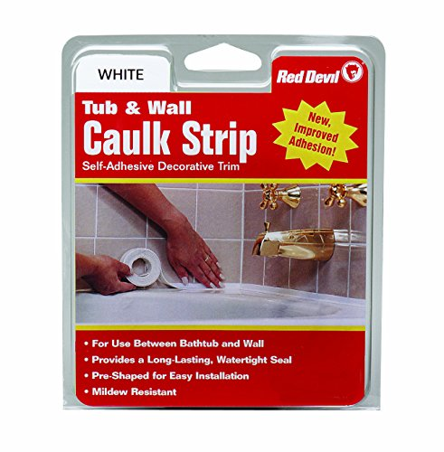 Red Devil 0151 Wide White Tub & Wall Caulk Strip 1-5/8-Inch by 11-Foot Caulking Bathtub