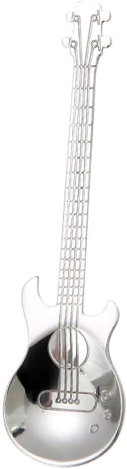 Sairis Guitar Set di cucchiaini da caff/è Cucchiaio da dessert in acciaio inossidabile Cucchiaino da t/è Cucchiaino da t/è Accessori per caff/è Utensili per bere posate