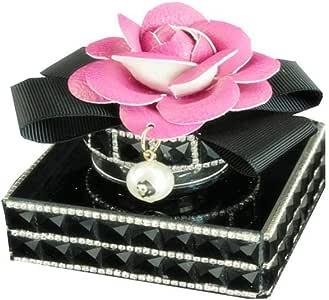 Y&D Car Care Air Vent Freshness Crystal Flower Decor Perfume Bottle Air Fresh Scent Black/Pink