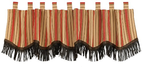 HiEnd Accents Rock Canyon Fringed Valance