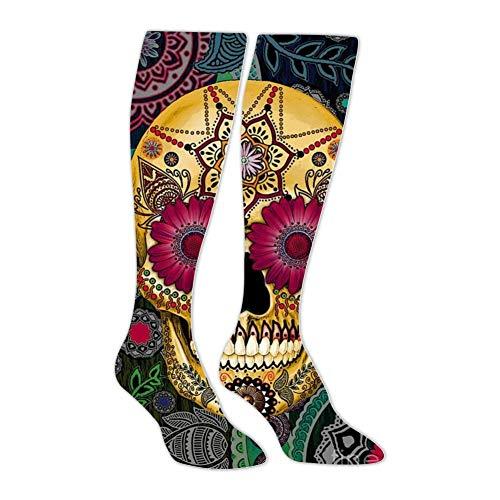 (Sugar Skull Smile Athletic Socks Knee High Socks For Men&Women Tube Long Stockings Casual Sock)