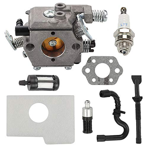 Trustsheer Carburetor fit Stihl MS170 MS 170 MS180 MS 180 017 018 Chainsaw 1130 120 0608 Walbro Type Carb with Air Filter Replace 1130 124 08 ()