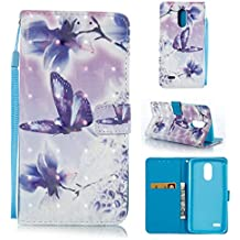LG Stylus 3 Case, LG Stylo 3 Case, PU Leather Card Holder Durable Scratch Resistant Full Body Protection Bumper Wallet Card Case Magnetic Kickstand Wallet Case Folio Flip Holder for LG Stylus 3