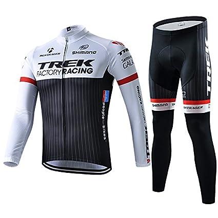 ETBO ETBO 2015 Trek Team Men's Long Sleeve Cycling Jersey and Bib Shorts Set Betop