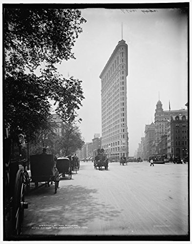 - Vintography 8 x 10 Ready to Frame Pro Photo of Flat-Iron Building i e Flatiron Fifth Avenue and Broadway New York 1902 Detriot Publishing 99a