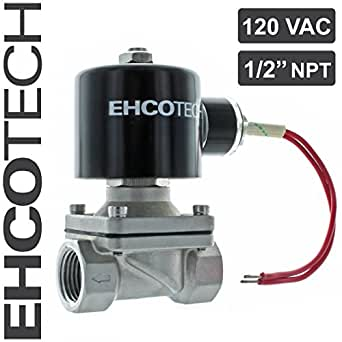 Normally Open Replacement Brass Valve ETIAL Electric Solenoid Valve 1//2 AC 110V Water Air Gas NO