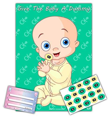 Baby Shower Party Games - GIVE THE BABY A DUMMY - Ultimate A2 edition -20 player (BLUE)