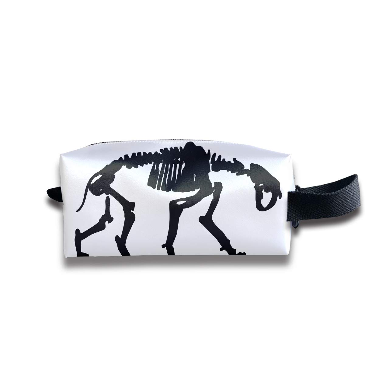 Makeup Cosmetic Bag Animal Black and White Logo Zip Travel Portable Storage Pouch for Mens Womens by Cooby Roman