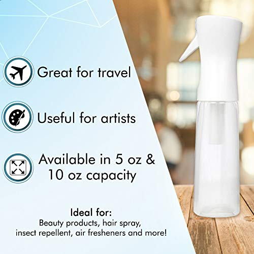 Beautify Beauties Flairosol Hair Spray Bottle  Ultra Fine Continuous Water Mister for Hairstyling