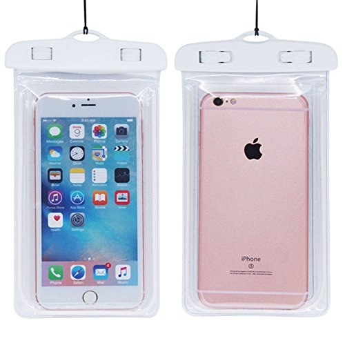 Price comparison product image Universal Waterproof Noctilucent CellPhone Dry Bag for Iphone Touchscreen (Noctilucent-White)