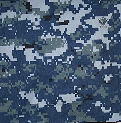 US Navy Blue Digital Camouflage Fabric 65