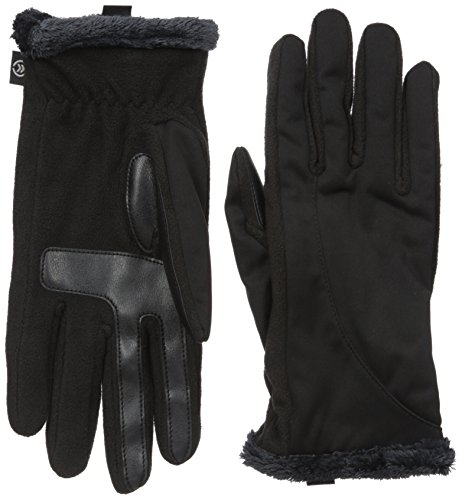 (Isotoner Women's Softshell Gloves with Thermaflex Core and Smartouch Technology )