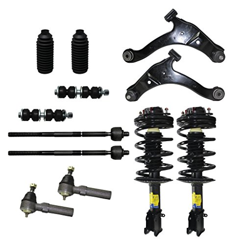 Neon Front End (Detroit Axle - Brand New 12 Piece Front Suspension Kit - 2 Lower Control Arms, 2 Sway Bar End Links, All 4 Inner and Outer Tie Rod Ends and 2 Front Strut and Coil Spring Assemblies)