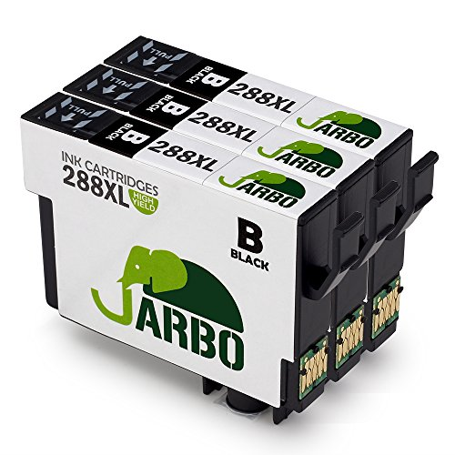 JARBO 3 Black Replacement for Epson 288XL Ink Cartridge High Capacity, Used in Epson Expression Home XP 330 XP 430 XP 434 Printer