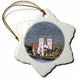 3dRose orn_71126_1 Catholic Church, Apia, Upolo Island, Western Samoa AF41 MDE0000 Michael DeFreitas Snowflake Porcelain Ornament, 3-Inch