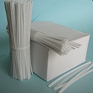 "Weststone Brand - 125pcs Plastic twist ties, 5""x 5/32"", White, Re-Usable, Moisture resistant"