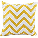 mk. park - Colorful Wavy Stripes Home Decorative Cushion Cover Throw Pillow Case (Yellow)