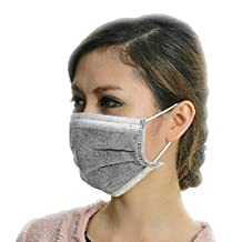 Hengfey Disposable Activated Carbon Face Mask Four Layer Health Filter Anti-dust Grey Pack of 50