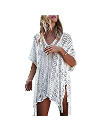 Women's Bathing Suit Bikini Cover-up Summer Beach Swimwear Crochet Dress