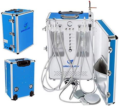 [해외]OUBO Brand GU-206S Portable Unit Built-in with 3-Way Syringe Saliva Ejector LED Light Cure Lamp High and Low Speed Air Turbine Tube 600W 4 Holes / OUBO Brand GU-206S Portable Unit Built-in with 3-Way Syringe, Saliva Ejector, LED Li...