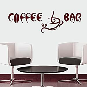 Wall Decals Quotes Coffee Bar Cup Beans Quote Kitchen Living Any Room Design For
