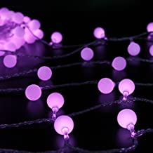 Ball Fairy Lights,ER CHEN(TM) 100 LED 33Ft Globe String Lights,Ball Fairy String Light for Garden Party Christmas Wedding Indoor Decoration(Purple)