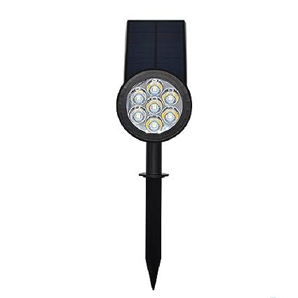 Amyove Lámpara de Patio para decorar el jardín, luz de energía Solar, Creativo Sensor