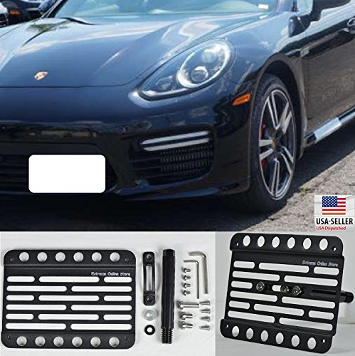 Amazon.com: Extreme Online Store for 2014-Up Porsche Panamera 971 Front Bumper Tow Hook License Plate Mount Bracket: Automotive