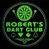 4x ccts0003-g ROBERT'S Dart Club Game Room Bar Beer 3D Engraved Drink Coasters
