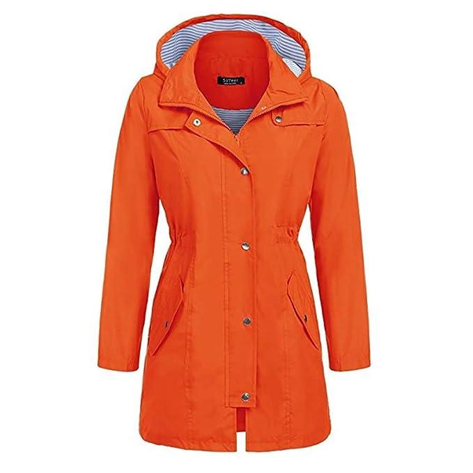 lowest price 9e751 277c3 LUGOW Damen Rain Jacket Outdoor Hoodie Wasserdichter ...