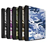 STUFF4 PU Leather Book/Cover Case for Apple iPad 9.7 (2017) tablets / Multipack Design / Camouflage Army Navy Collection