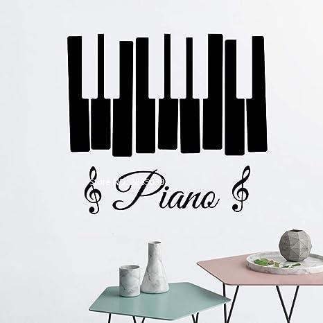 YuanMinglu Señal de Piano Musical Etiqueta de la Pared Vinilo ...