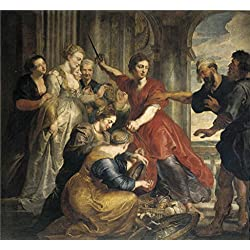 Oil Painting 'Rubens Peter Paul Dyck Anton Van Achilles Discovered By Ulysses And Diomedes Ca. 1617' 8 x 9 inch / 20 x 22 cm , on High Definition HD canvas prints, Bath Room, Foyer And Nursery decor