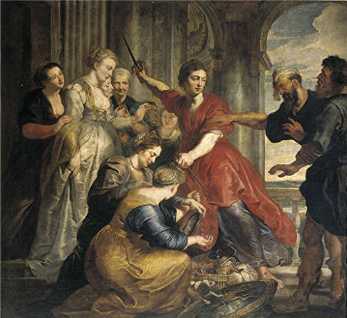 Oil Painting 'Rubens Peter Paul Dyck Anton Van Achilles Discovered By Ulysses And Diomedes Ca. 1617' 20 x 22 inch / 51 x 55 cm , on High Definition HD canvas prints, Bath Room, Foyer And Nurse