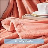 Bedsure Fleece Blanket Throw Blanket Coral - 300GSM