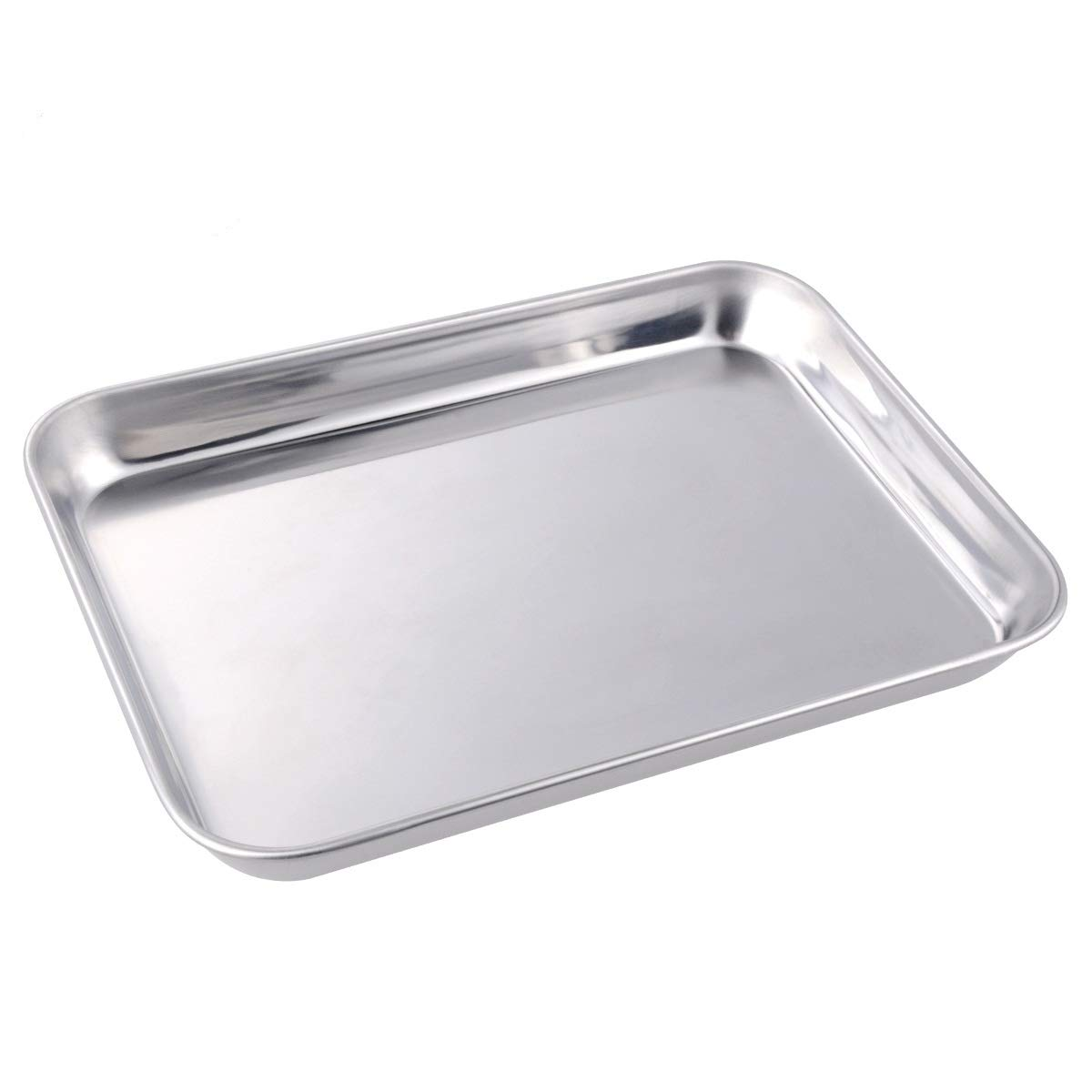 Cookie Baking Sheet 1 Pieces, Stainless Steel Non-Toxic Non-Stick & Healthy Cookie Baking Pan Mirror Finish, Rustproof and Easy Cleaning (1pcs 15.75x11.81x0.98 inch)