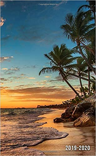 2019 2020 two year tropical beach monthly pocket planner with phone book password log and notebook nifty travel 24 month agenda calendar and organizer