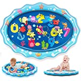 "heytech Tummy Time Mat Large Size Baby Water Play Mat Mat 33.5""X24"" Infant Toy Inflatable Play Mat for 3 6 9 Months Newborn Boy Girl"