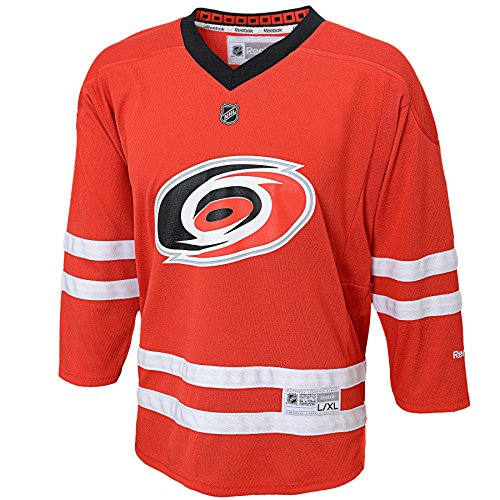 fan products of NHL Carolina Hurricanes Replica Youth Jersey, Red, Small/Medium