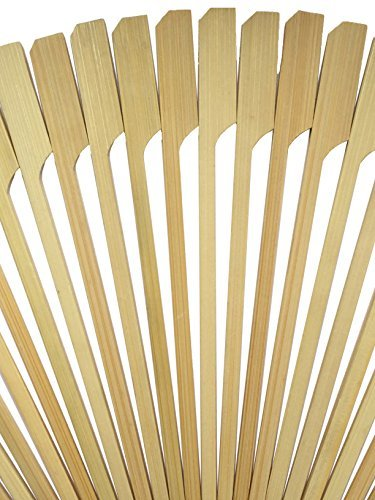 2100 Pcs Paddle Pick Skewers Bamboo Wood by HOT STIX 100% Bamboo Wood 4.1'' Length Jumbo Pack of 2100 Pieces Perfect for Party Food, Sausages, Burgers, Prawns, Kebabs, Weddings, BBQ, Desserts