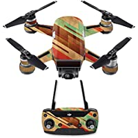 Skin for DJI Spark Mini Drone Combo - Abstract Wood| MightySkins Protective, Durable, and Unique Vinyl Decal wrap cover | Easy To Apply, Remove, and Change Styles | Made in the USA