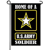 Artsbaba Garden Flag Home Of A US Army Soldier Garden Flag Outdoor Decorative Weather Resistant Polyester Yard Flag Double Sided (Flag Pole Is Not Included) - 12 x 18 Inches