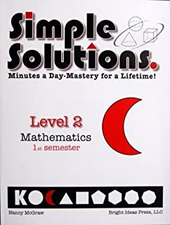 Simple solutions math level 3 nancy l mcgraw 9780972873000 simple solutions minutes a day mastery for a lifetime level 2 mathematics fandeluxe Images