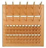 Eisco CH0001C Wood Draining Rack, Wall Mountable - 90 Pins (72 - 3'' Pins, 18 - 5'' Pins)