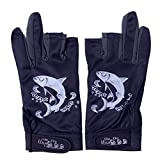 Agepoch 3 Cut Finger Fishing Hunting Gloves Anti-Slip Breathable Lightweight Quick Drying