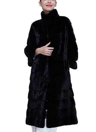 Donna Lungo Giacca Invernale Parka di Pelliccia Sintetica Invernale  Elegante Cappotto Maniche Lunghe  Amazon.it  Abbigliamento b1c5eebb9ee