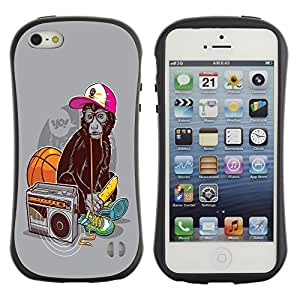 Suave TPU GEL Carcasa Funda Silicona Blando Estuche Caso de protección (para) Apple Iphone 5 / 5S / CECELL Phone case / / Funny Swag Monkey Ape /