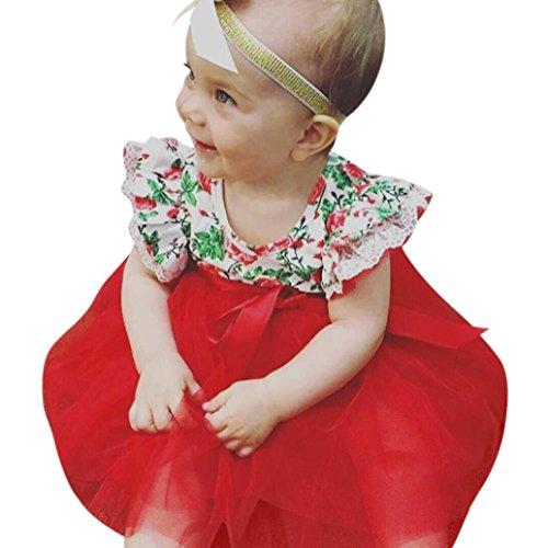51b966874a27c Moonker Girl Dresses,Toddler Infant Baby Girls Floral Lace Tutu Sleeveless  Princess Dress